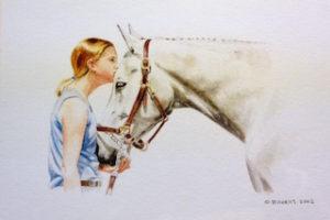 "Best Friends Watercolor on Paper, 7"" x 9"", 2002"
