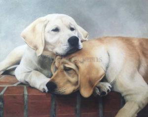 "Dog's Best Friend Oil on Linen, 8"" x 10"", 2016"